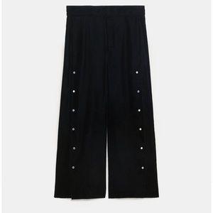 Zara Wide Leg pants with metallic Appliqué